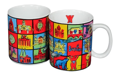 Coffee Mug Berlin Squares II (2er Set)