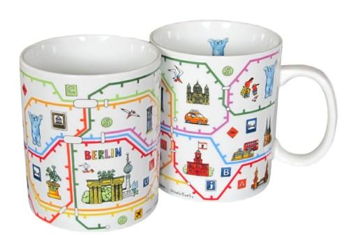Coffee Mug Set Berliner Netz (2 Mugs)