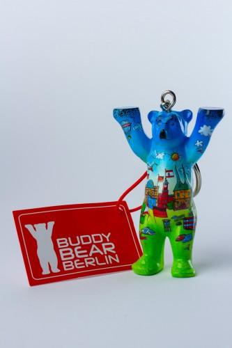 Comic Blue, Schlüsselanhänger, 6 cm