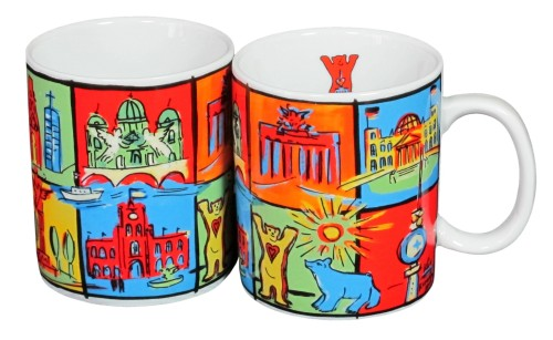 Coffee Mug Big Squares (2er Set)