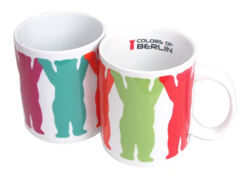 Coffee Mug Hand in Hand bunt (2er Set)