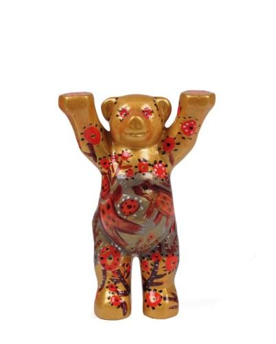 Goldener Bär, Mini-Miniatur, 6 cm