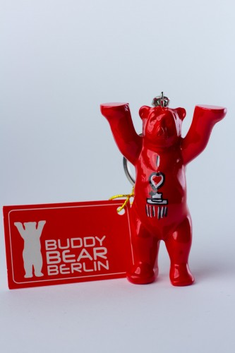 Schlüsselanhänger, I Love Berlin, rot